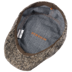 Stetson Ivy Kap Donegal/Tweed Wirgin Wool/Yün El Yapımı Gri Bej Şapka - Thumbnail