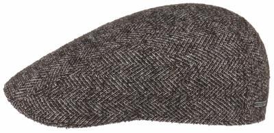 Stetson - Stetson Ivy Virgin Wool Herringbone Pattern Brown Wool Silk Cashmere Polyamide Cap