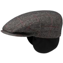 Stetson - Stetson Kent Kahverengi Balık Sırtı Yün Kulaklıklı Şapka