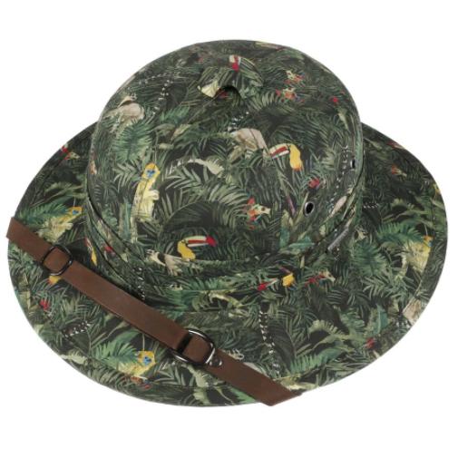 Stetson - Stetson Pith Helmet Cotton Yeşil Tropical Desenli Şapka (1)