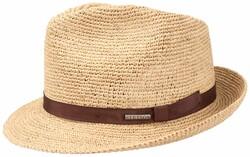 Stetson - Stetson Player Raffia Crochet Natural Straw Beige Hat
