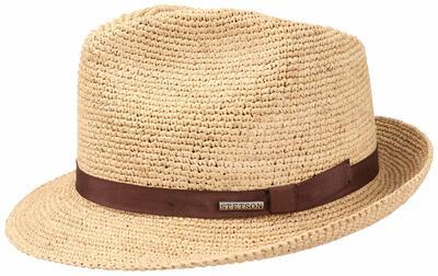 Stetson - Stetson Player Raffia Crochet Natural Straw El Dokuması Hasır Bej Şapka