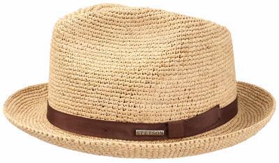 Stetson - Stetson Player Raffia Crochet Natural Straw El Dokuması Hasır Bej Şapka (1)