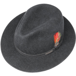 Stetson - Stetson Traveller Woolfelt Mix Yün Su Tutmaz Antracite El Yapımı Şapka (1)