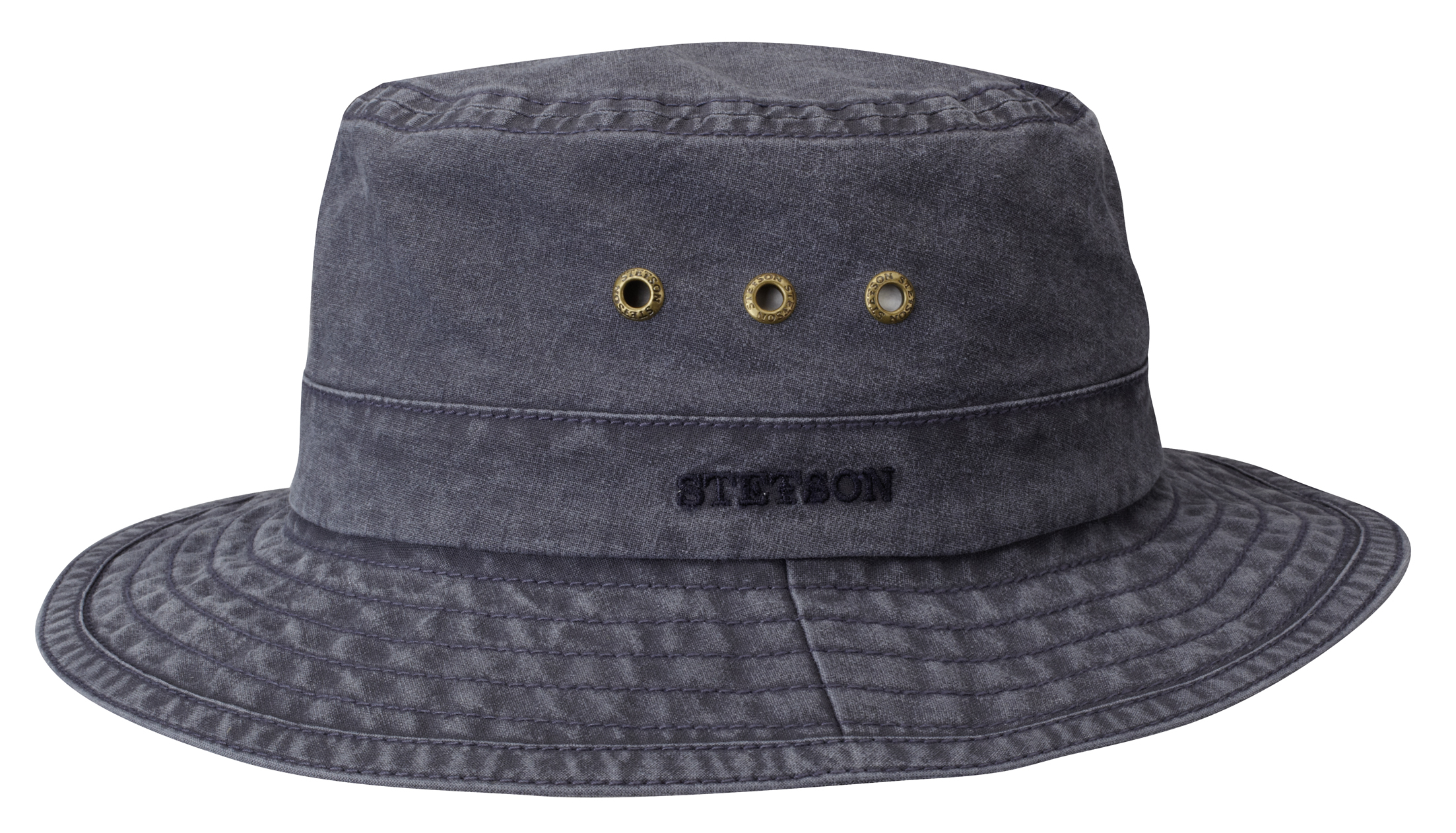Stetson Trilby Ramie Vintage Lacivert Şapka