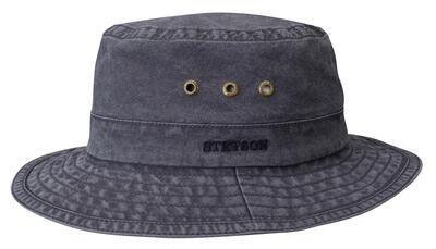 Stetson - Stetson Trilby Ramie Vintage Lacivert Şapka