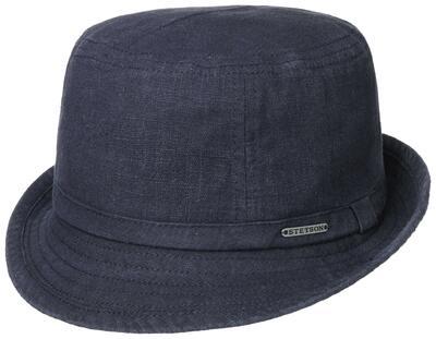 Stetson - Stetson Trilby Ramie Vintage Lacivert Şapka (1)